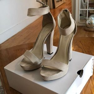 Nude Strappy Heels by Aldo